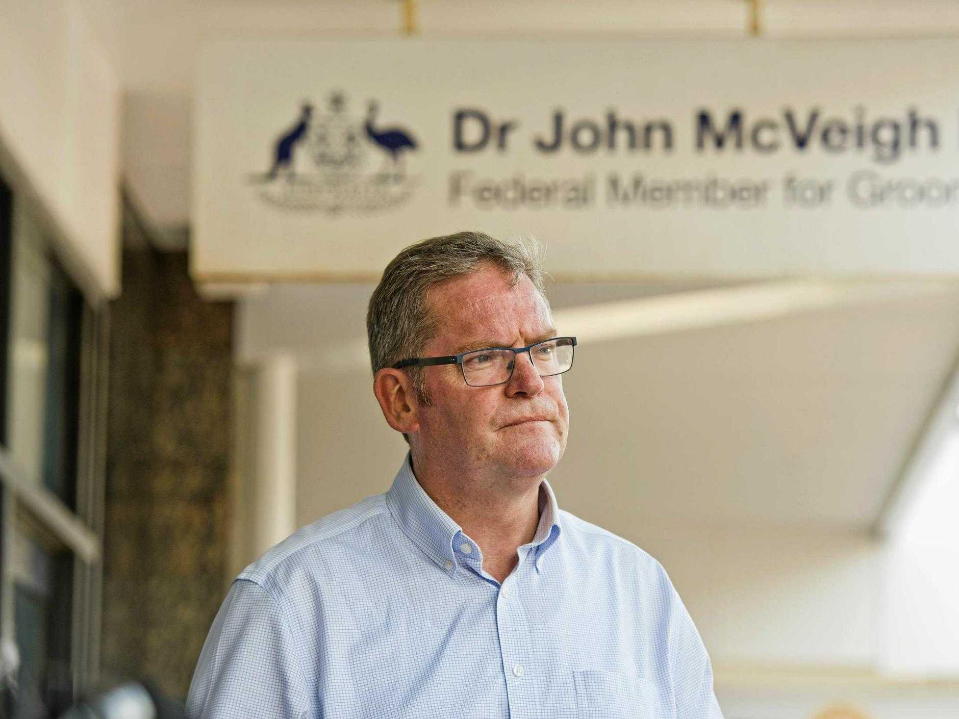 Dr John McVeigh MP, Federal Member for Groom.