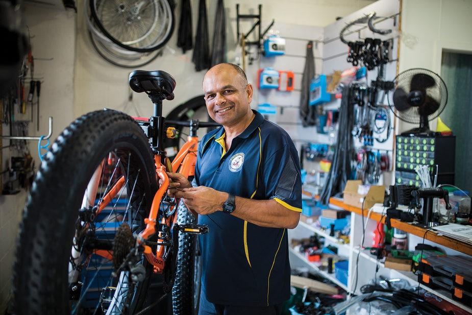 Bike Shop Yamba owner Michael Vincent wants to help people make a seachange.