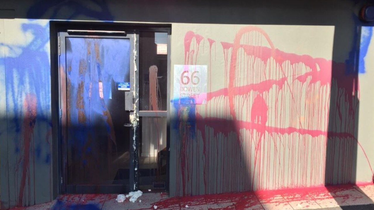 Opposition Leader Deb Frecklington has tweeted pictures of vandalism at LNP headquarters. Picture: Twitter