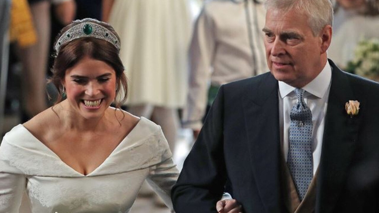 Eugenie and Andrew on her wedding day. Picture: Supplied