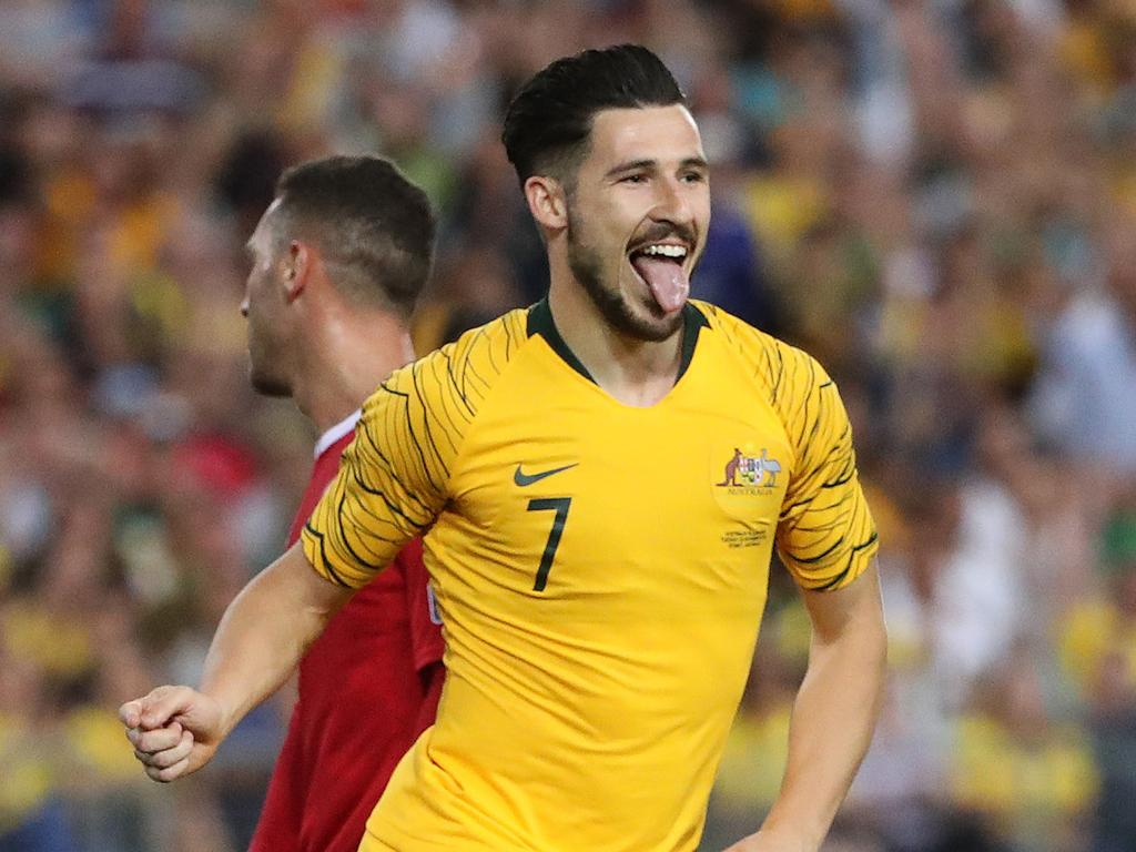 Mathew Leckie is the only player in the squad to boast more than six international goals. Picture: Brett Costello