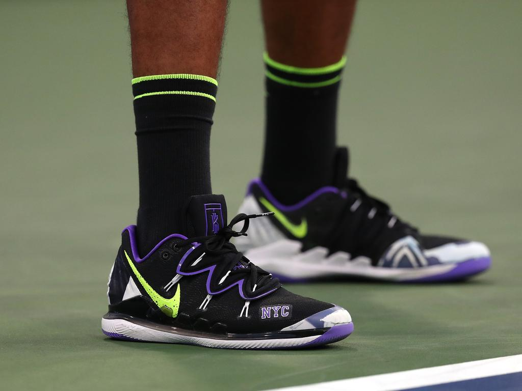 Kyrgios also had special edition NYC shoes. (Photo by Mike Stobe/Getty Images)
