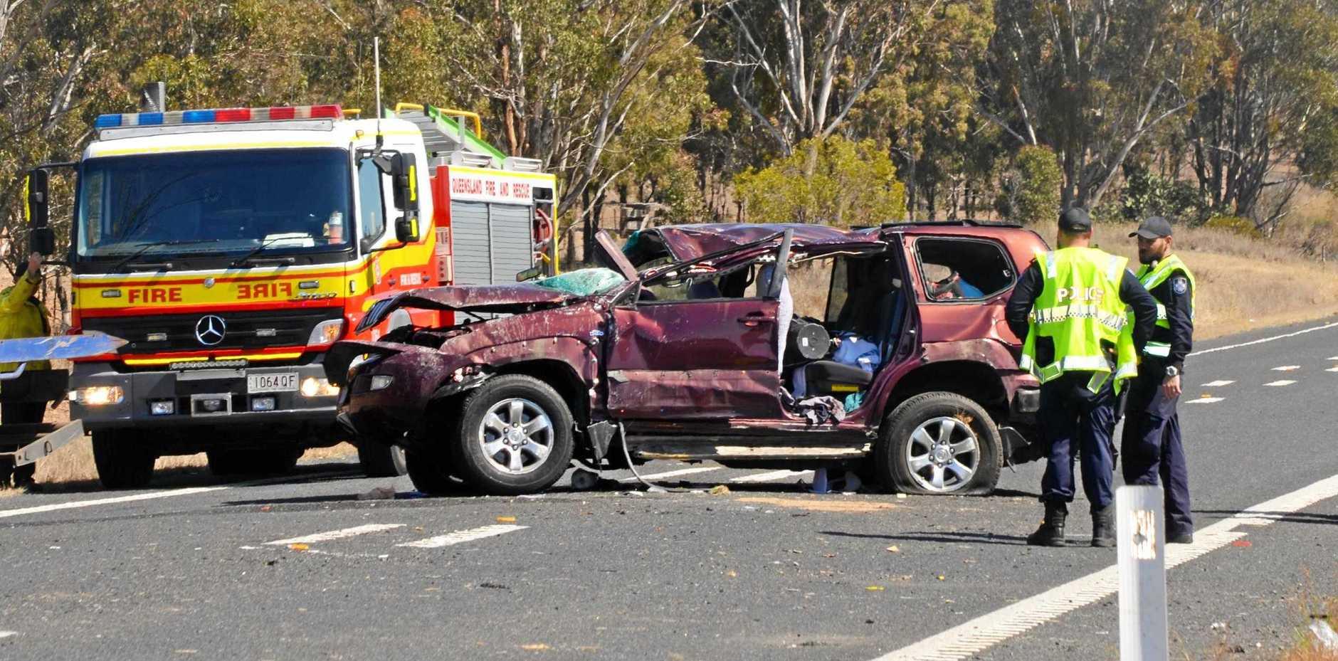 TRAFFIC CRASH: Rick Lindberg saves elderly man caught in Cunningham Highway crash.