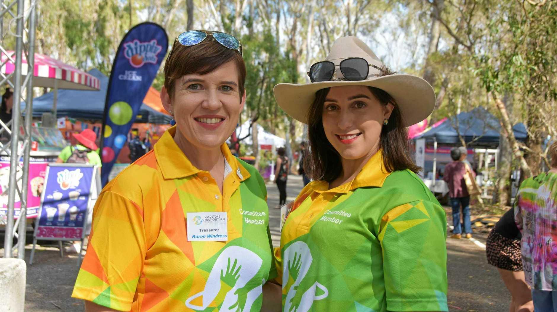 CELEBRATIONS: Gladstone Multicultural Association treasurer Karen Windress and president Helena Sant at Gladstone's Multicultural Festival.