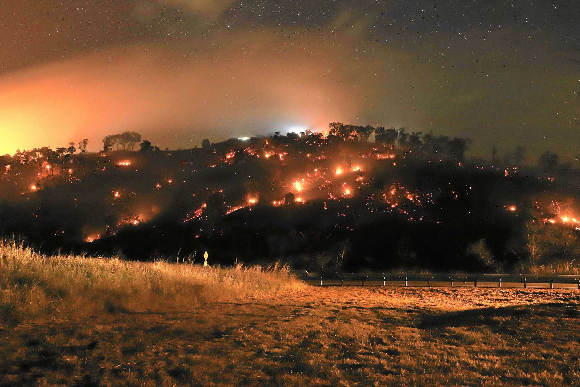Vegetation fire at The Leap on August 31, 2019
