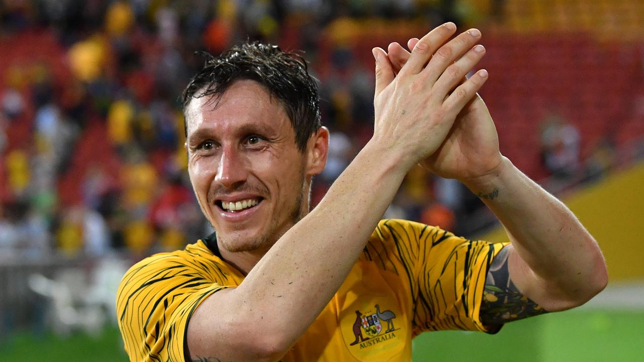 Mark Milligan's experience will be crucial for a young Socceroos line-up. Picture: AAP Image/Darren England.