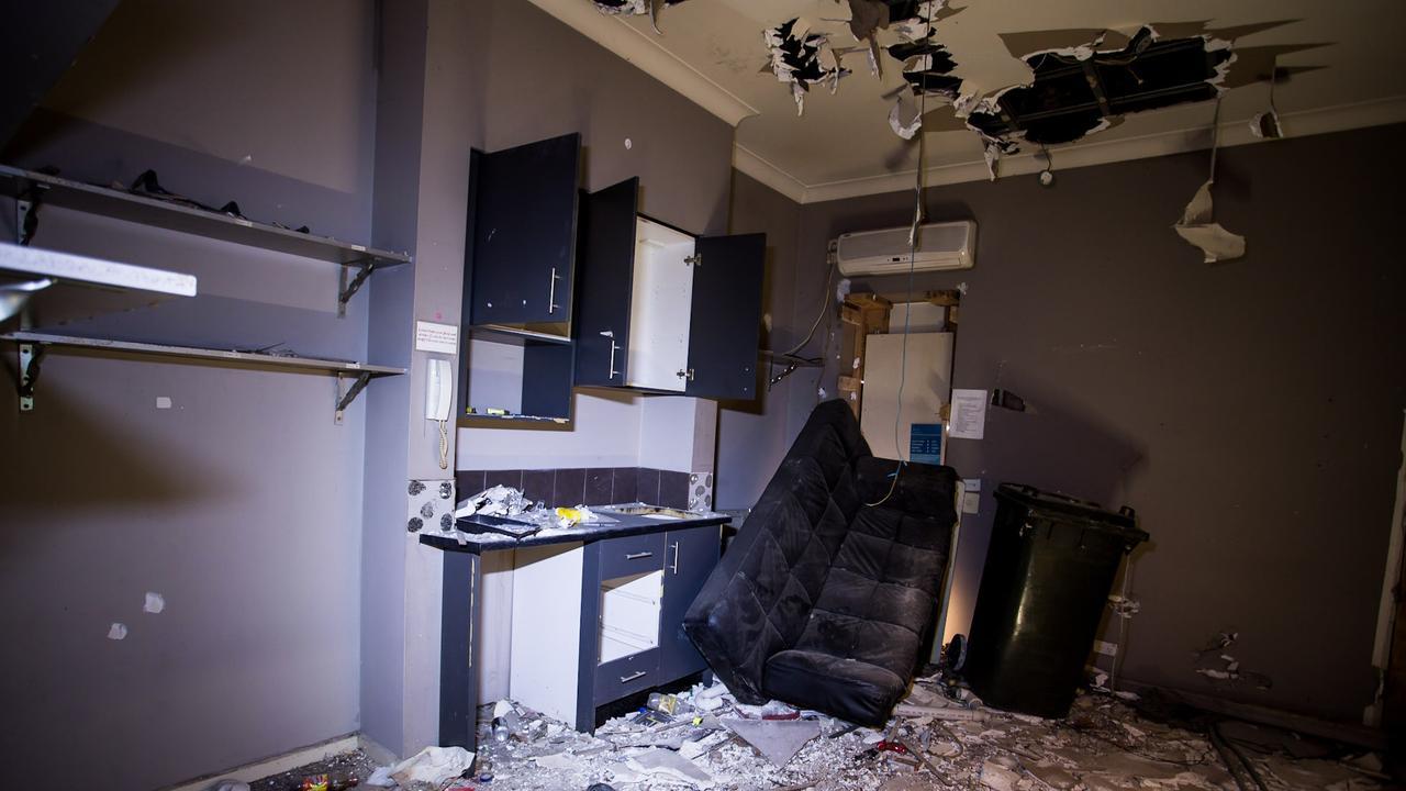 The kitchen before Mr Monopoli's transformation … Picture: Shane Monopoli