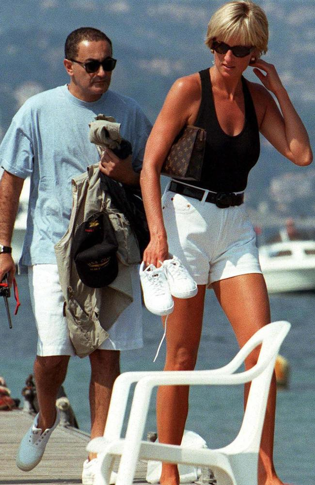 Diana and Dodi, holidaying in St Tropez. Picture: Darryn Lyons' archives