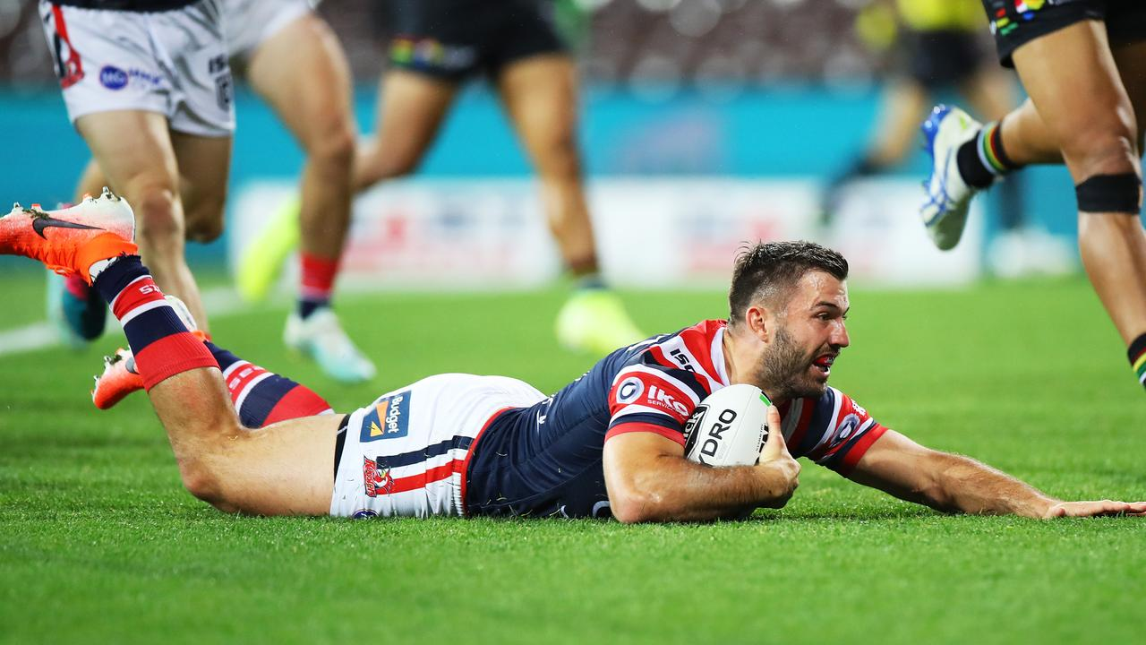 James Tedesco added to his season tally of tries. Picture: Mark Kolbe