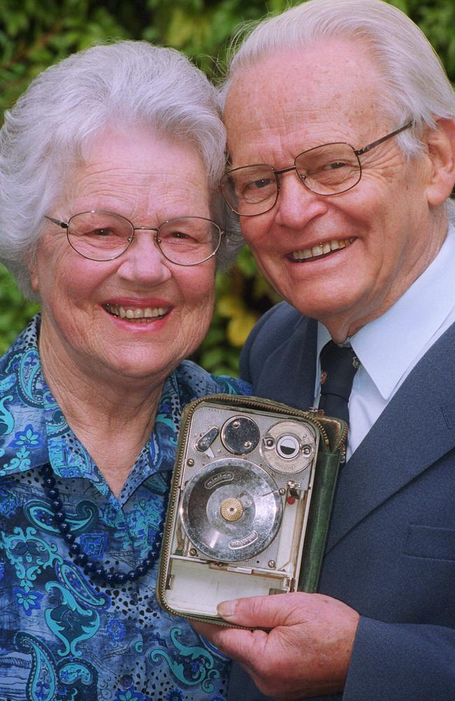 Dr. David Warren and his wife Ruth in 2002. Picture: Supplied.