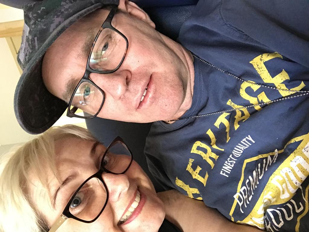 Jason Errington with his wife Susan at the Villa Vincent Aged Care Facility in 2018.