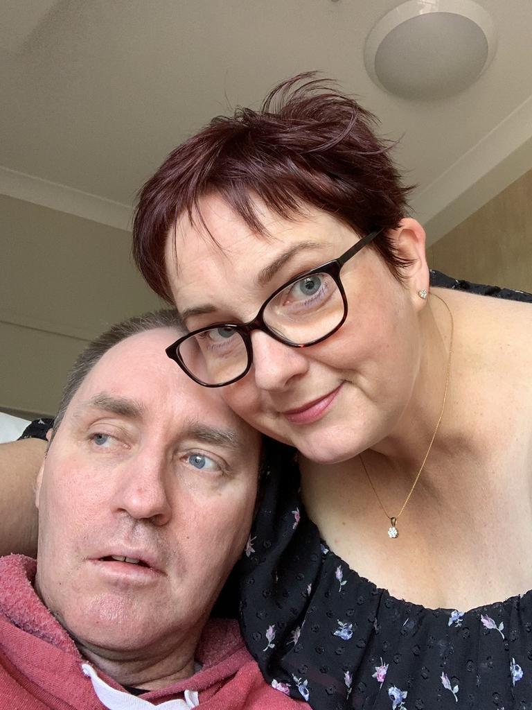 Jason Errington with his wife Susan.