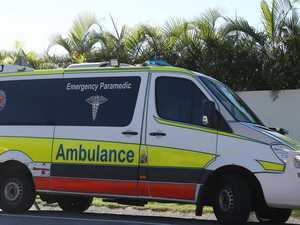 Motorbike rider taken to hospital after crash