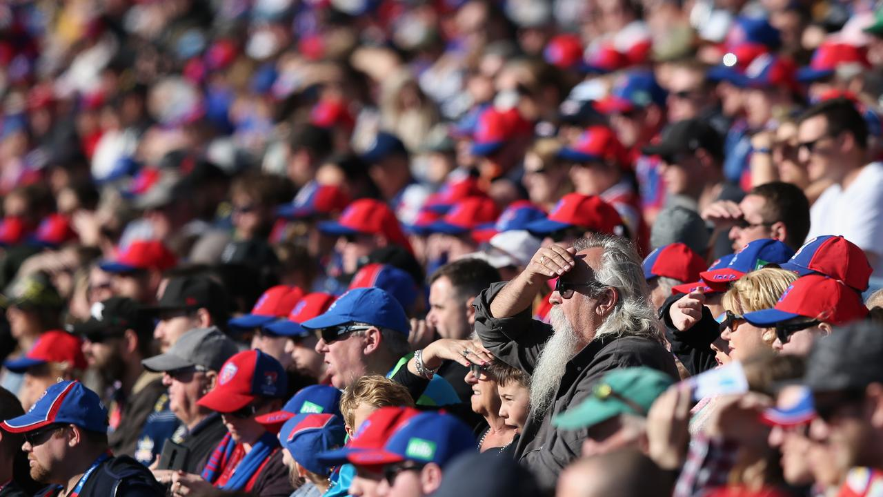 Evens the Knights' most loyal fans are turning away from the club. Picture: Ashley Feder/Getty Images