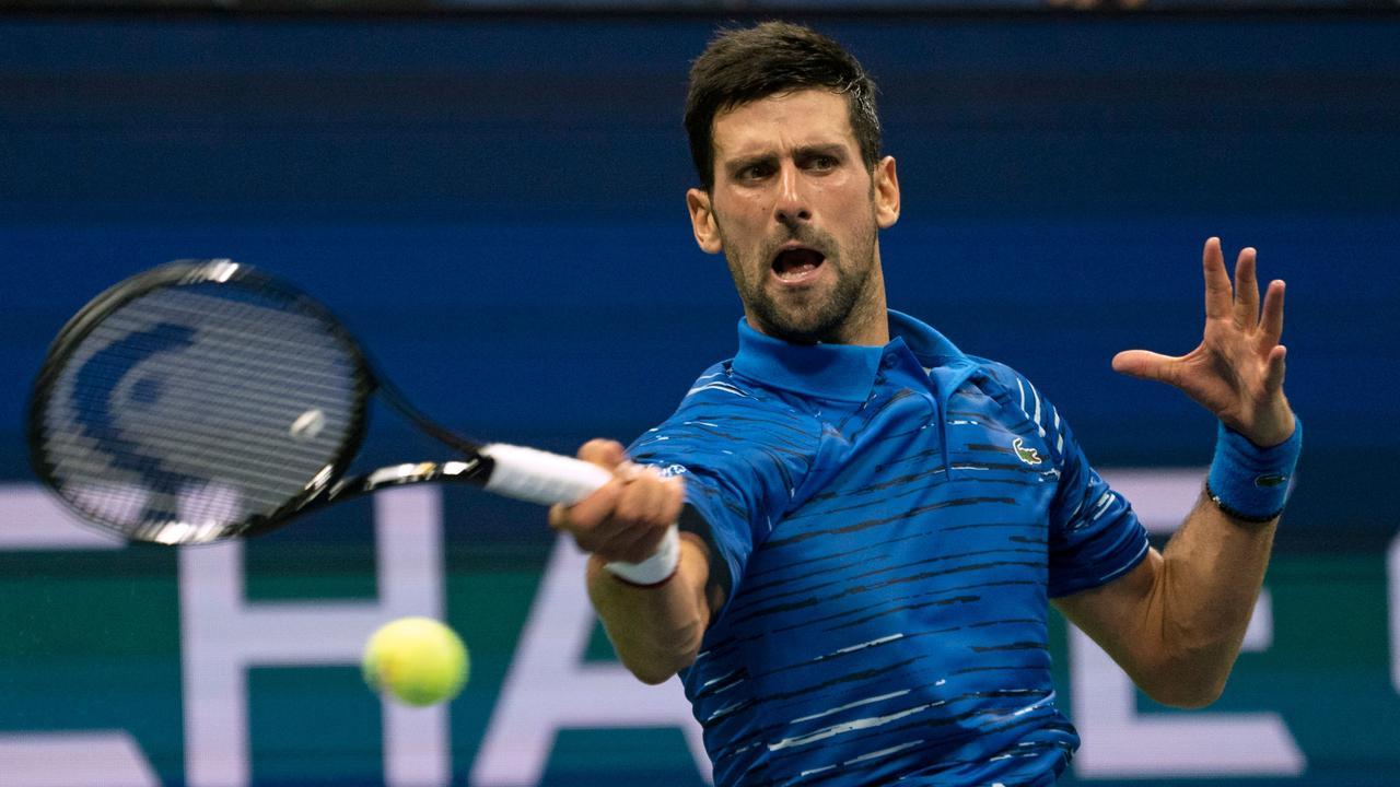 Novak Djokovic took the anger out on Denis Kudla.