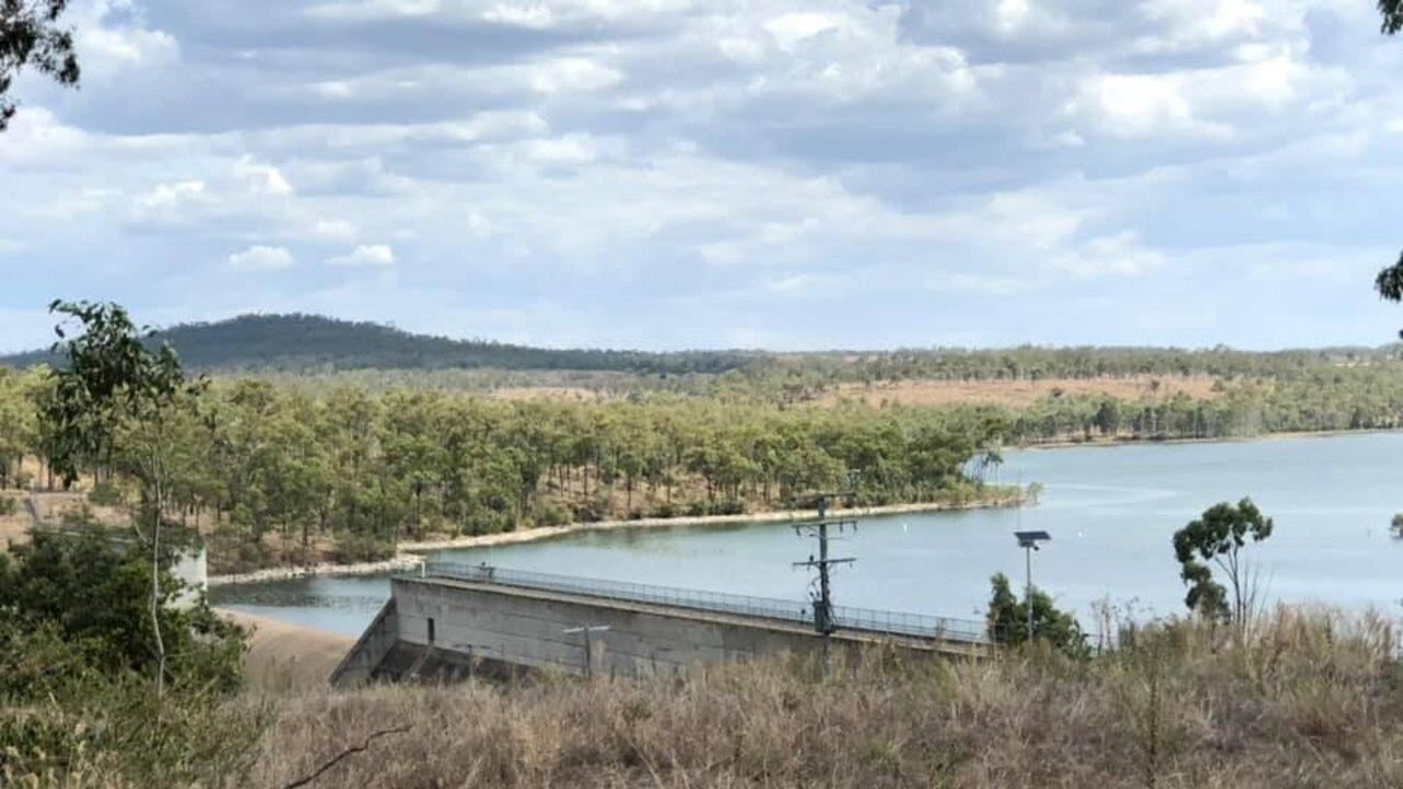Waruma Dam, Eidvold, where two men went missing. Pic: Supplied.