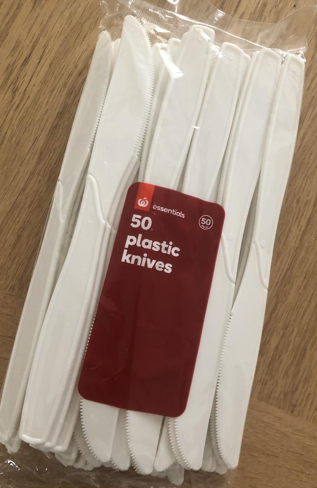 The plastic knives sold by Woolworths.