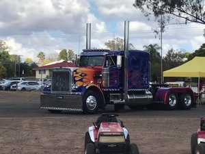 TRUCKING LIFE: Large truck enters the Wondai Show.