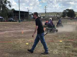 Lawn Mower Racing was big hit at the Wondai Show.