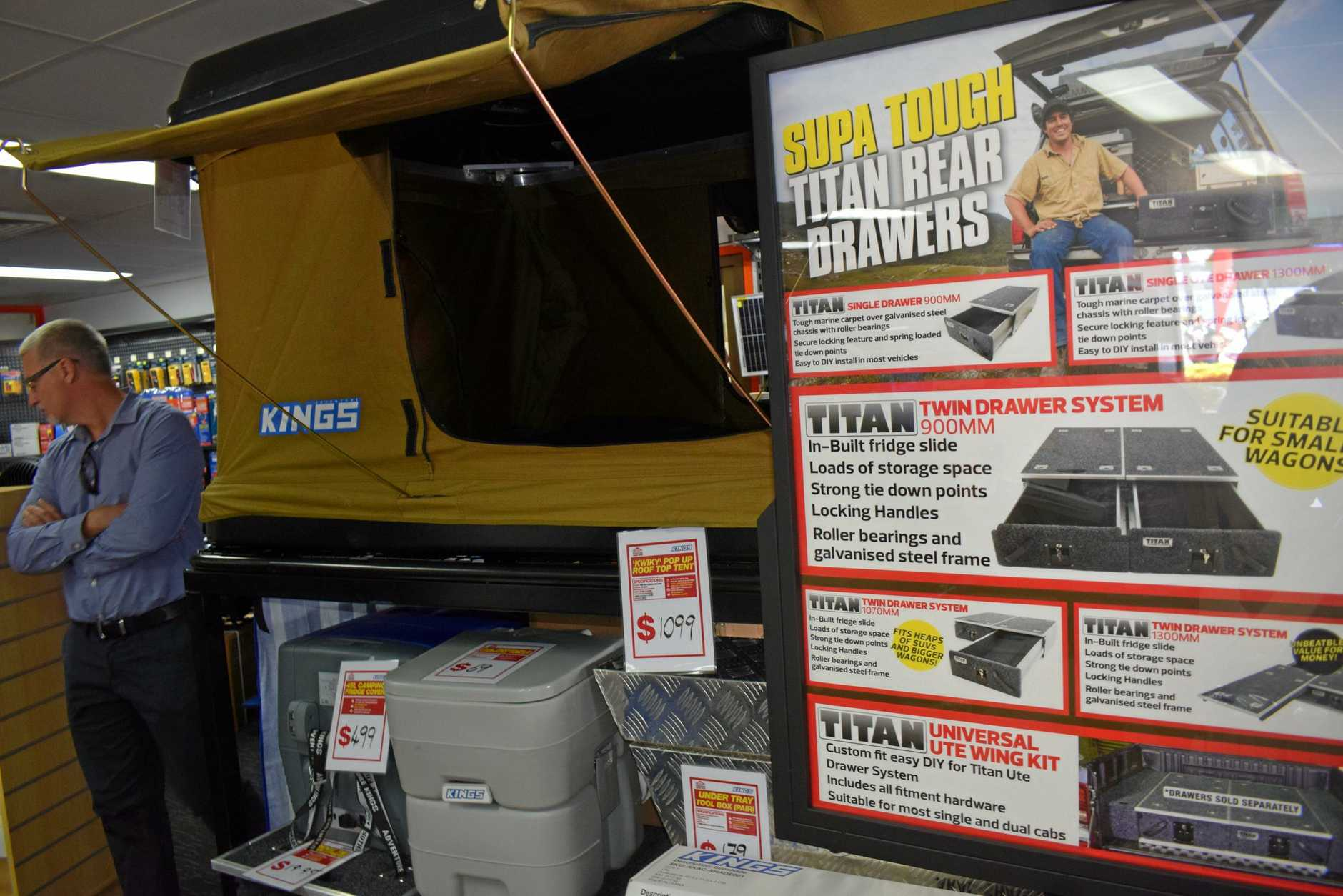 Customers admire the new Adventure Kings product range including this item.