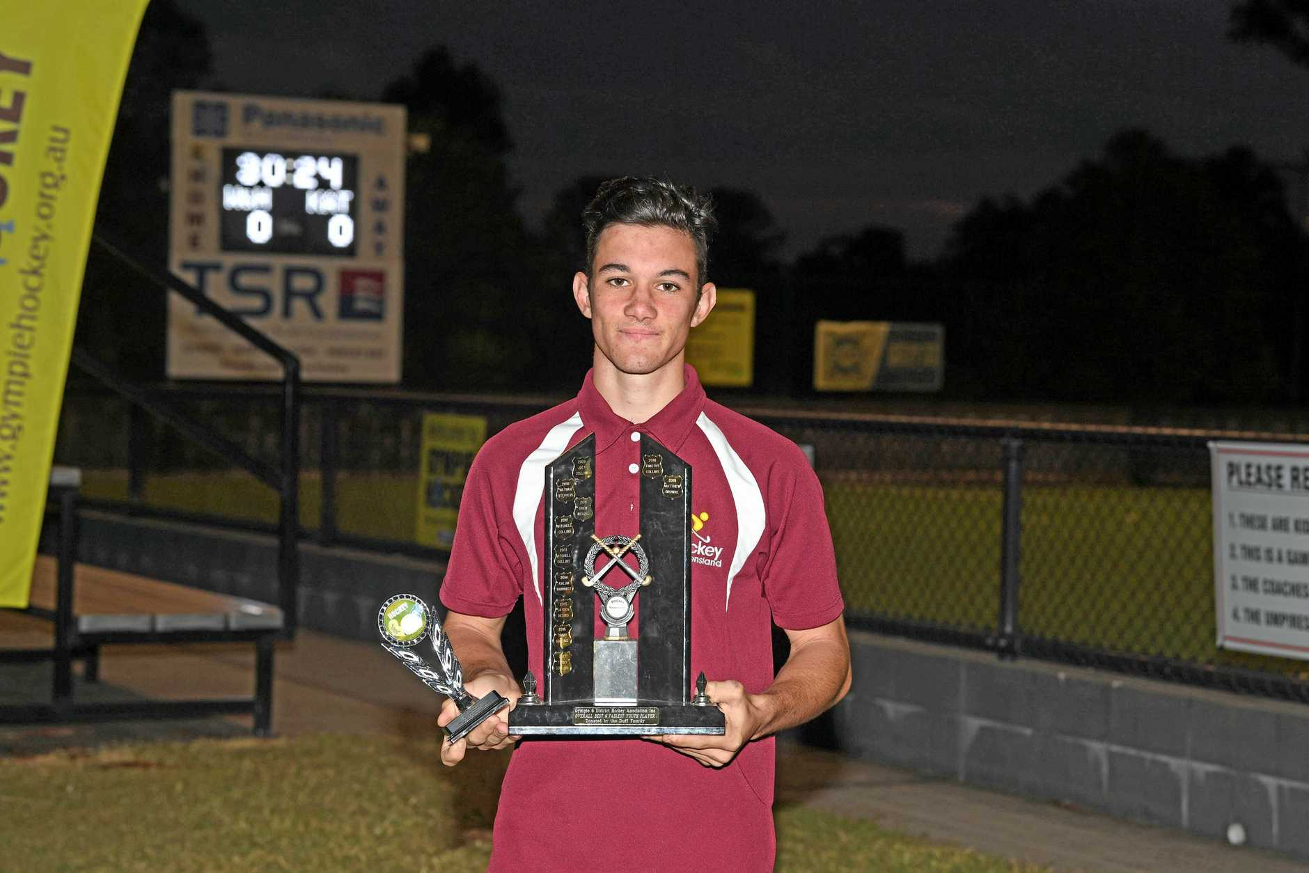 Gympie Hockey - Best and fairest youth male Matt Browne
