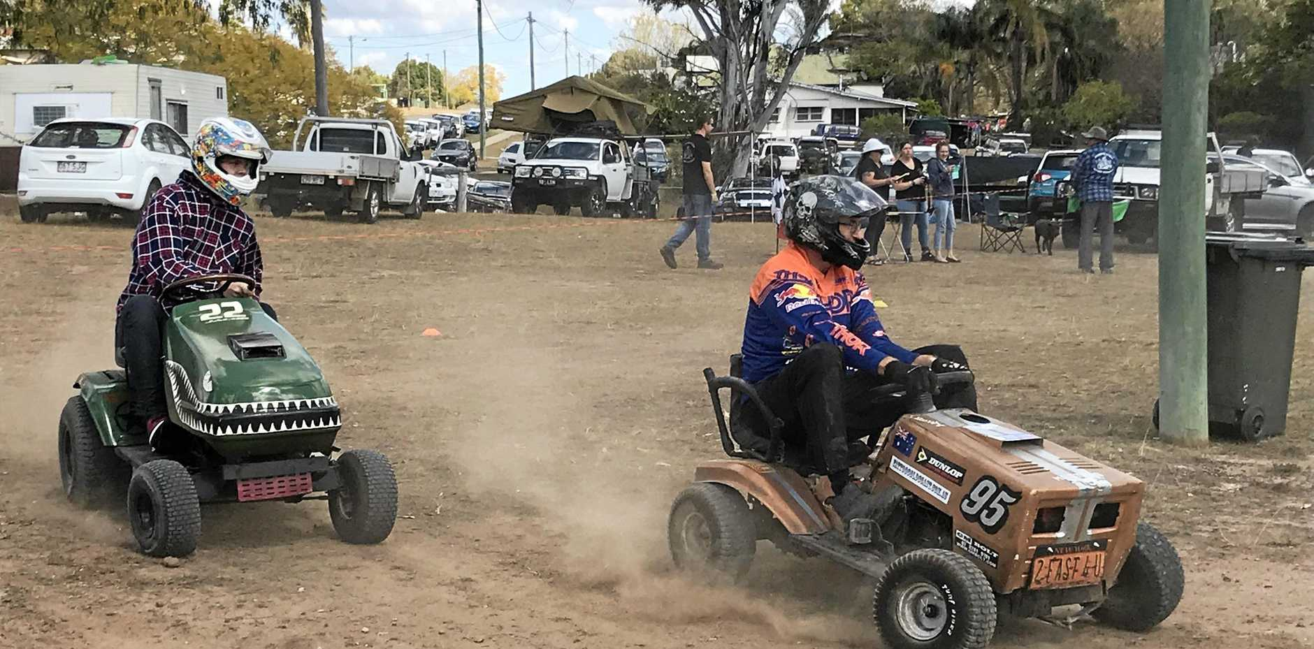 YOU MISSED A BIT: Lawn mower racing was a popular event at Wondai Show.