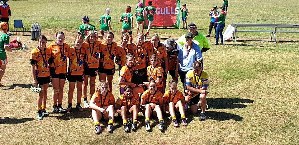 The victorious U15 Wallabys team