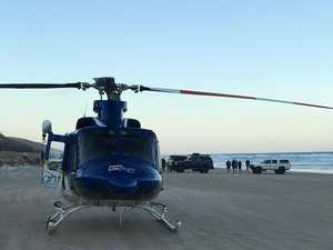 Motorbike crash forces beach chopper rescue