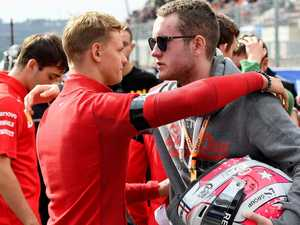 Schumacher's son consoles Hubert family