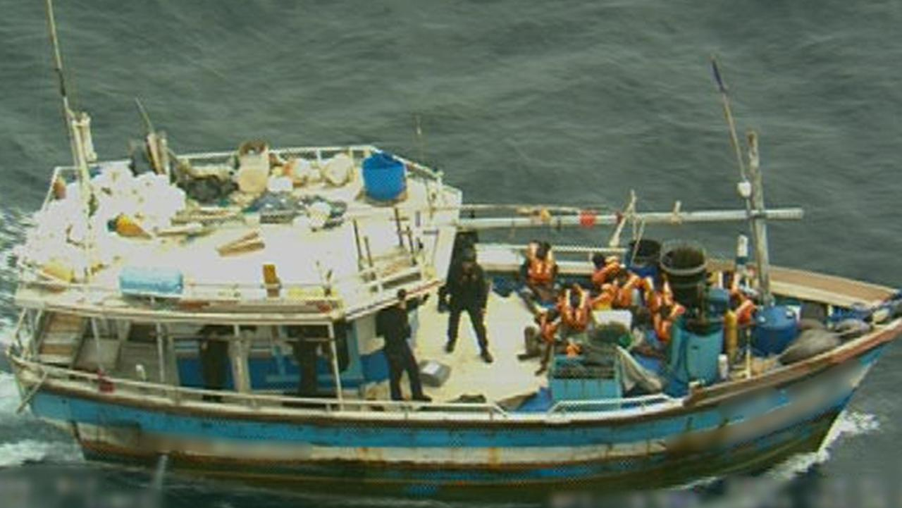 A boat full of suspected asylum seekers was located in Australian waters. They have been taken to Christmas Island.