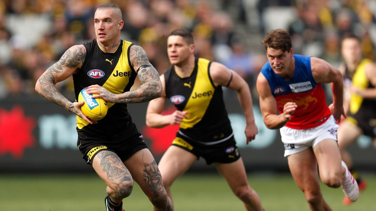 Dustin Martin carved up the Lions last week. Pic: Getty Images