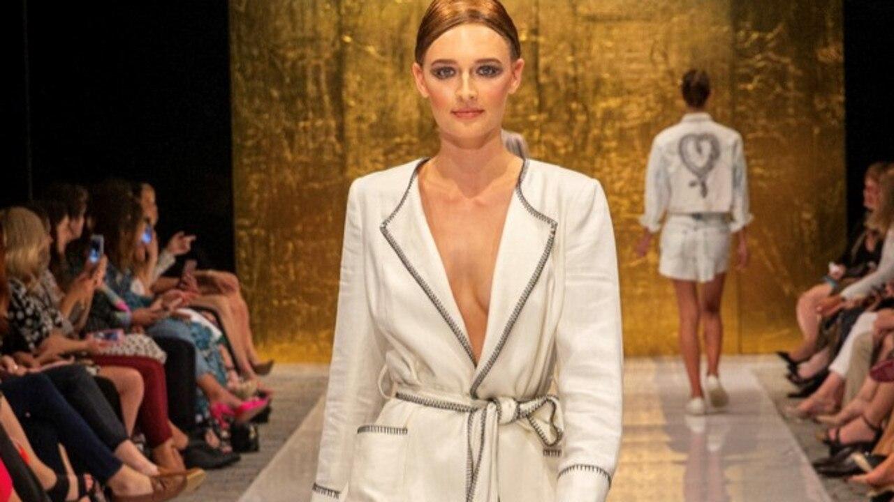 Caloundra model Bec Clauson, 16, in Sass & Bide at the Mercedes-Benz Fashion Festival Brisbane