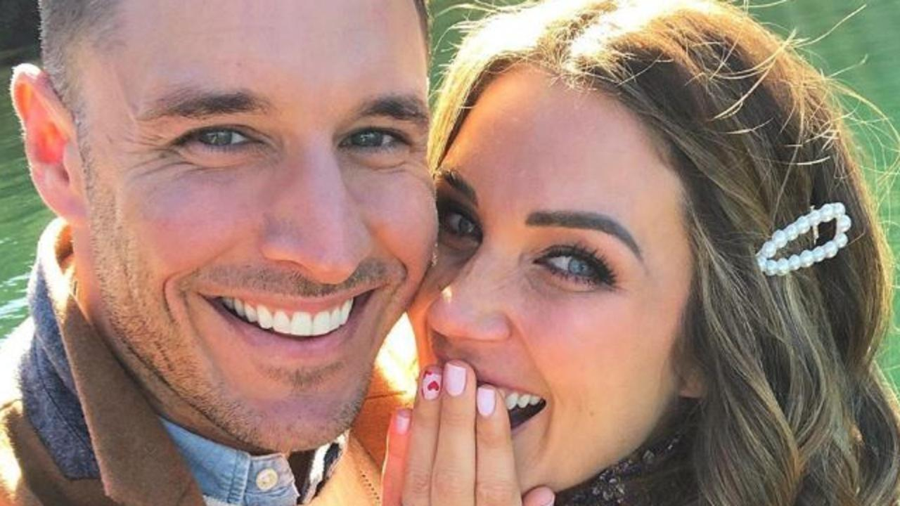 Georgia Love and Lee Elliott, who met on The Bachelorette in 2016, have announced their engagement on Instagram tonight. Picture: Instagram