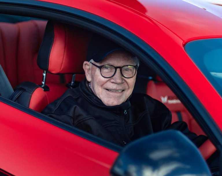 Racing legend Allan Moffat.