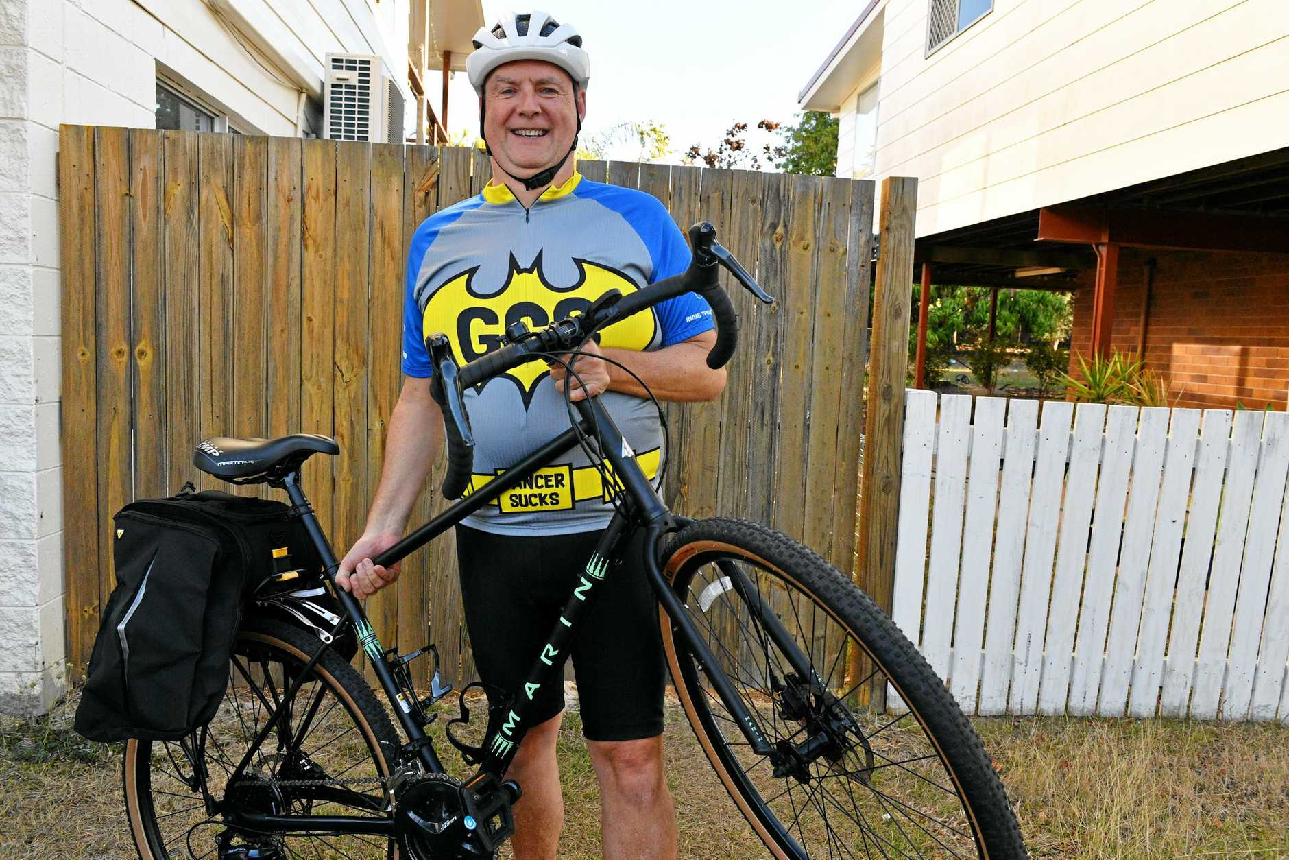 Steve Felix is getting ready for this year's Great Cycle Challenge which raises money for children's cancer research.