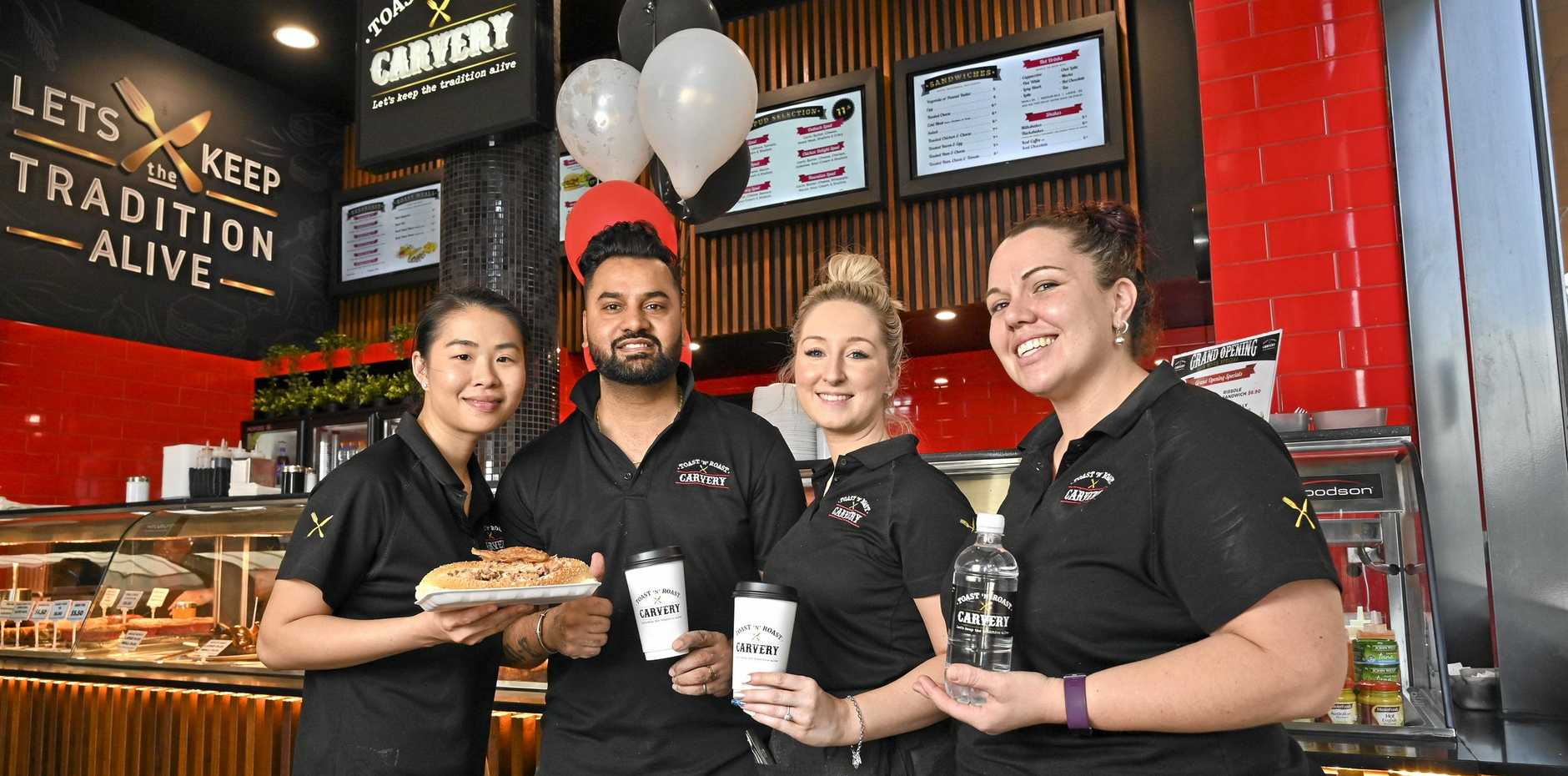 Niky Chan, Sunny Kumar, Nicole Robinson and Tarnz Altenburg of Toast and Roast Carvery at Orion.