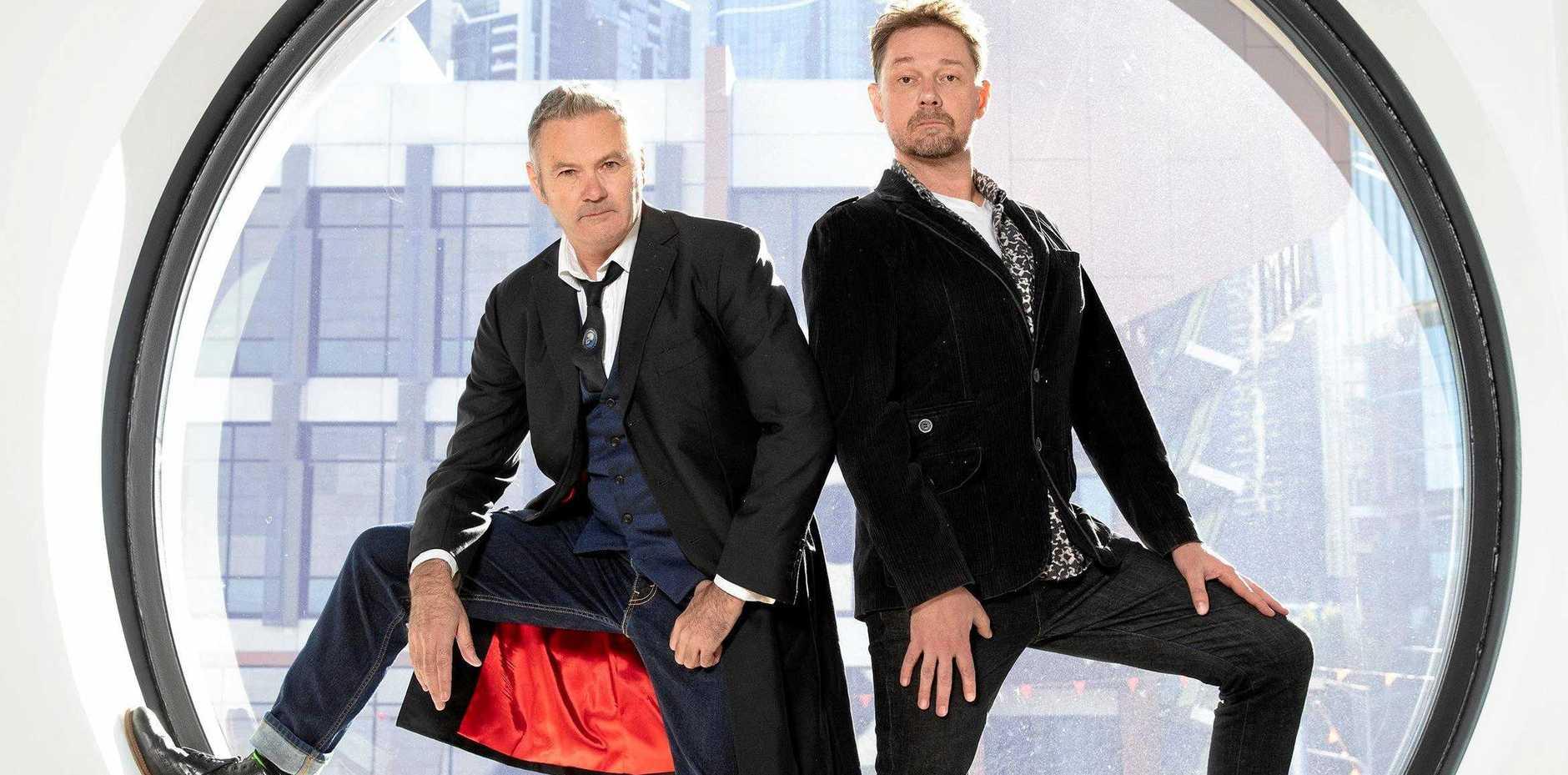 Singer songwriters Paul McDermott and Stephen Gates.
