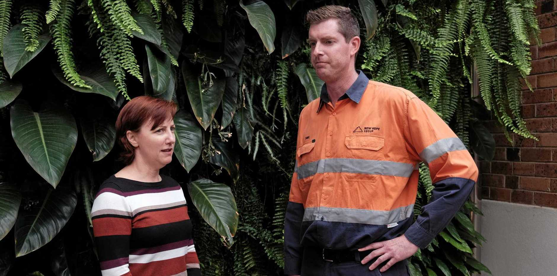 TSBE CEO Ali Davenport talks with New Acland Coal Mine general manager Dave O'Dwyer about the future of the mine.