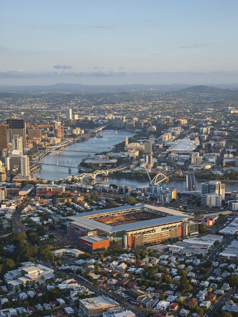 Aerial view of Broncos home ground Suncorp Staudium. Picture: Ethan Rohloff Photography/Tourism and Events Queensland