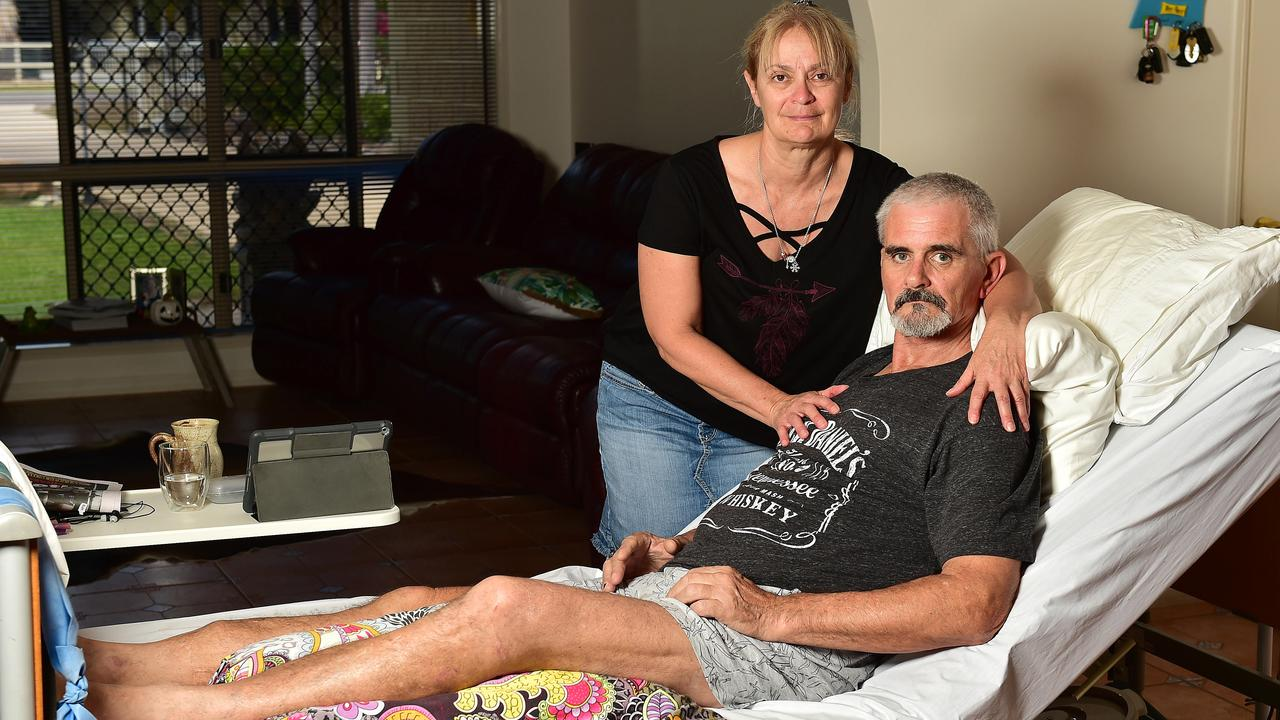 Clinton Paxton, pictured with his wife Giuseppina Paxton, was involved in a motorcycle accident on July 30th which resulted in a broken pelvis. Picture: Shae Beplate.
