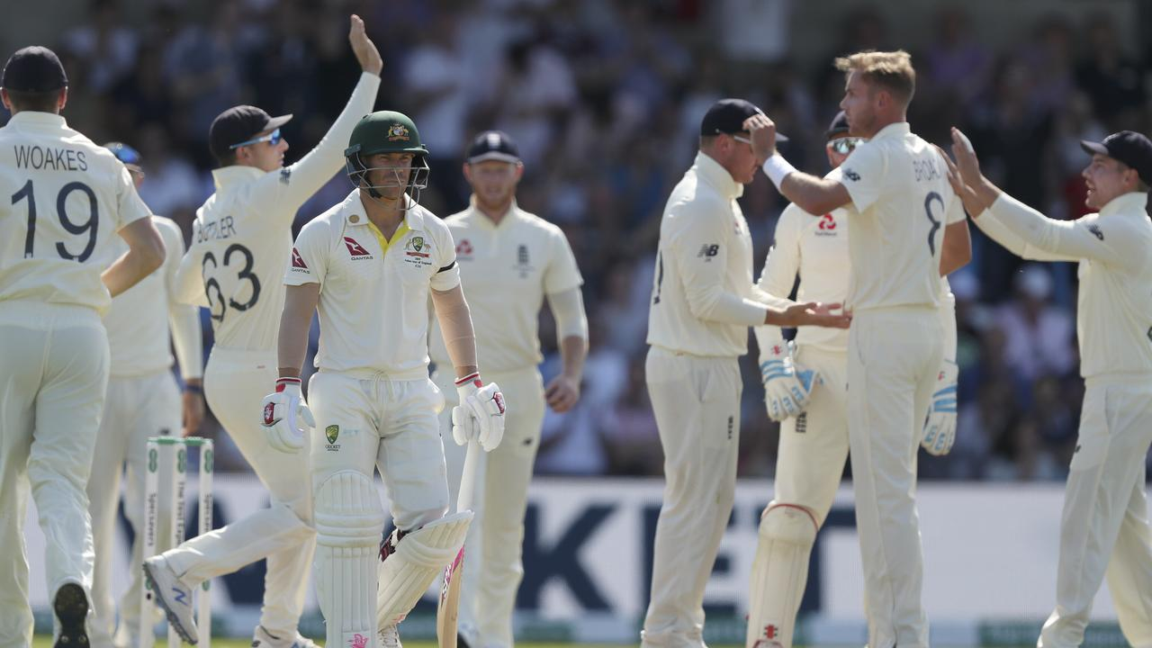 Stuart Broad has knocked over David Warner four times already this Ashes series.
