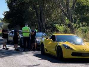 Corvette driver caught at 53km/h over limit in hills