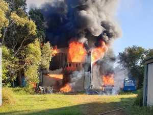 UPDATE: Man taken to hospital after Fraser Coast shed fire