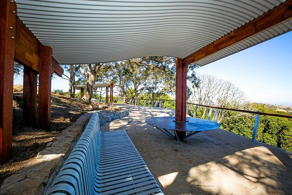 NEW LOOK: Works on Fishers Lookout at the Bunya Mountains is finally complete.