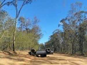 Stolen ute dumped upside down 20km away