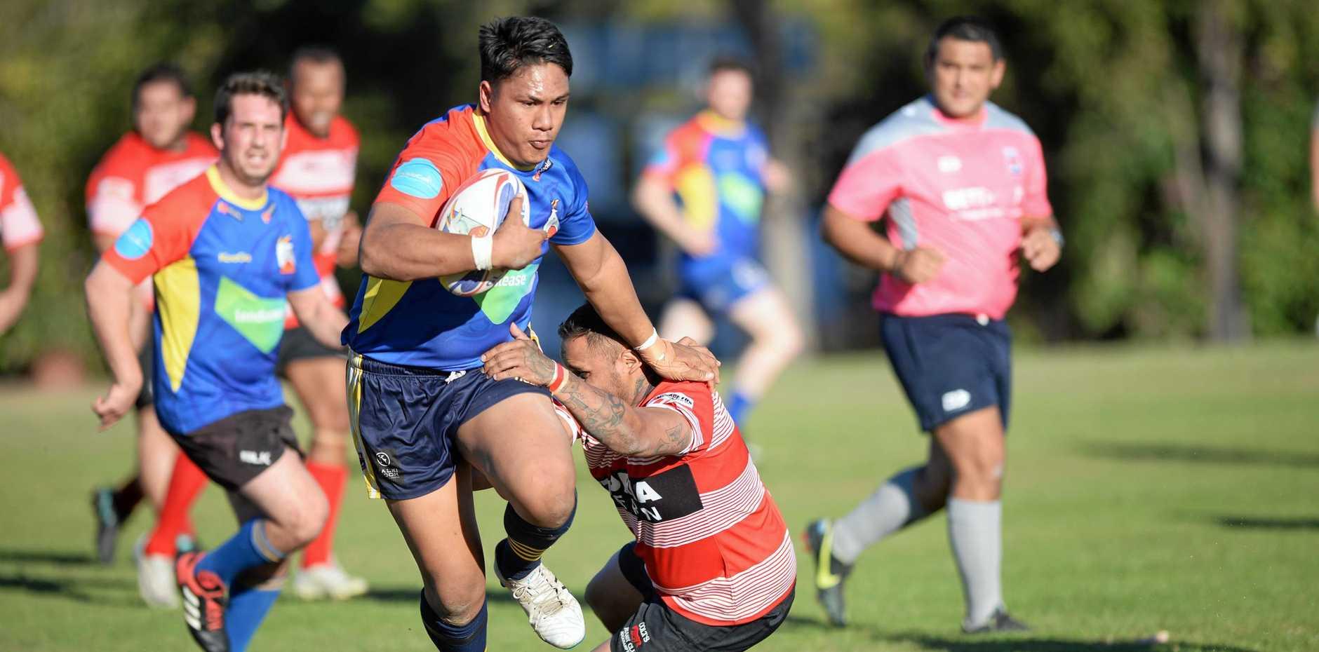 Rugby union: GRUFC's  LJ Tuivasa-Mariner.