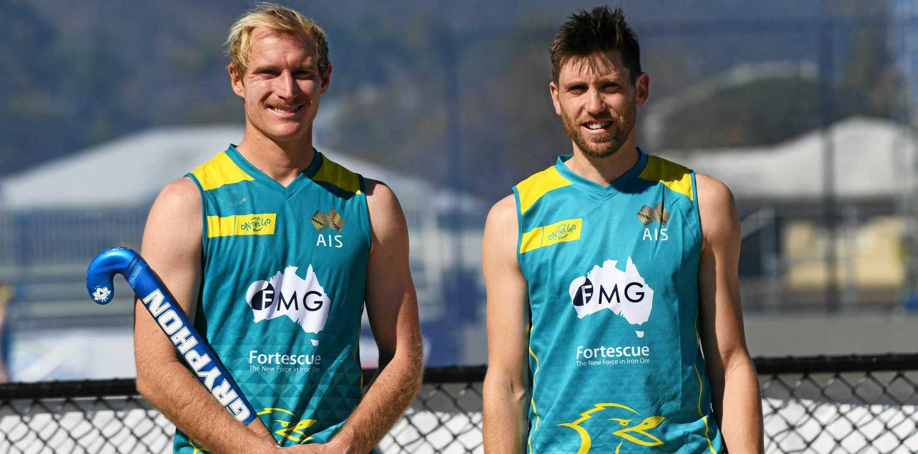 GAME ON: Kookaburras co-captains Aran Zalewski and Eddie Ockenden and their teammates are gearing up for the Oceania Cup, which starts on Thursday.
