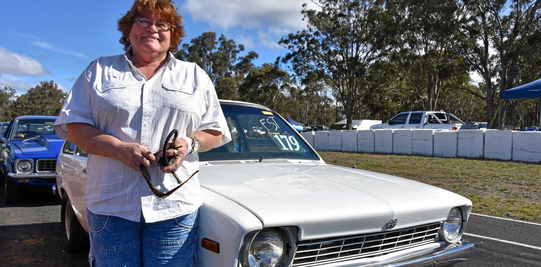Lyn Stewart races in memory of her late husband Mark in each year's Six Banger Nationals.