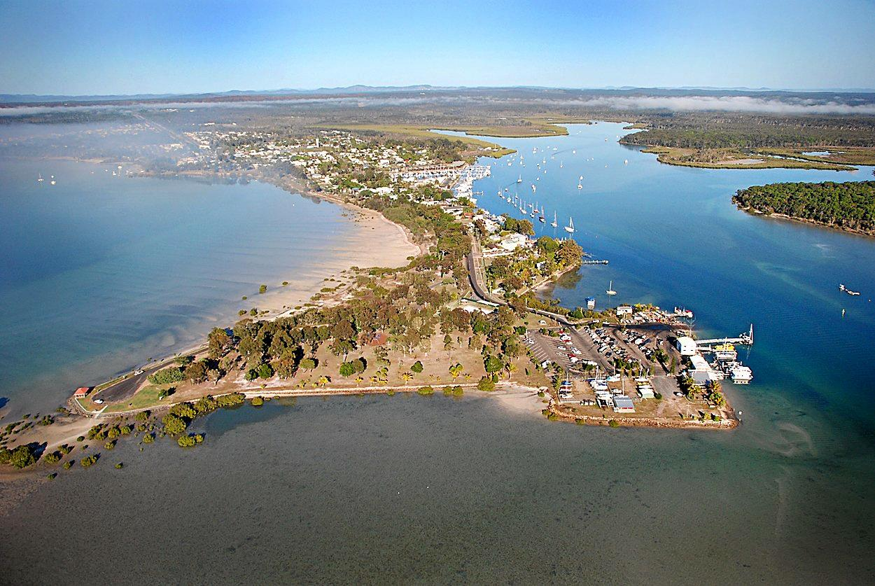 Looking down on Norman Point with Snapper Creek and the Tin Can Inlet on each side.Photo Craig Warhurst / Gympie Times