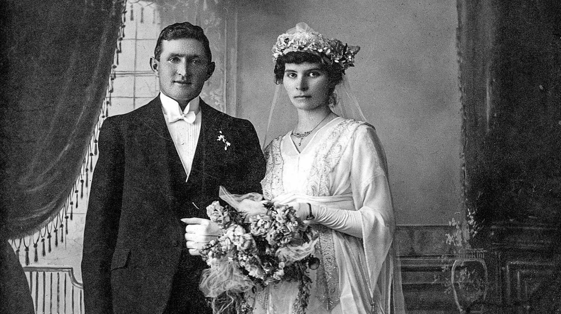 NUPTIALS: Michael McCormack and Johanna Bertoli married at Woodburn on August 27, 1919.